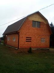 Дома из бруса 9х7 Владимир установка в Жлобинском р-не